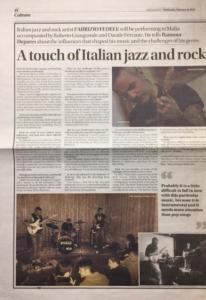 Times of Malta - 14 Febbraio 2016 (recensione / intervista) [in English] Newspapar di Ramona Depares
