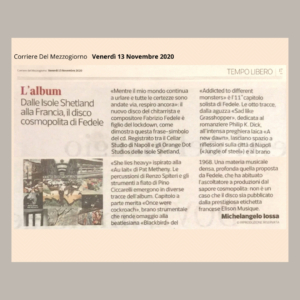 CORRIERE DEL MEZZOGIORNO - 13 Novembre 2020 (recensione) di Michelangelo Iossa