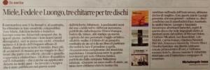 CORRIERE DEL MEZZOGIORNO - 24 Marzo 2021 (recensione) di Michelangelo Iossa