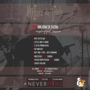 MisSara & Fedele - live unplugged session - Back Cover